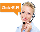 Live Chat Clock Support