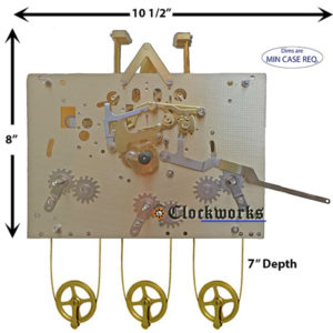 1161-850 Hermle Clock Movement