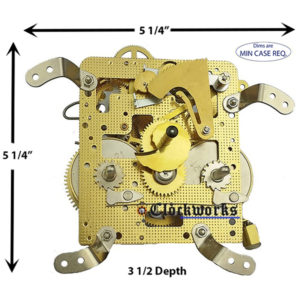 141-010 Hermle Clock Movement