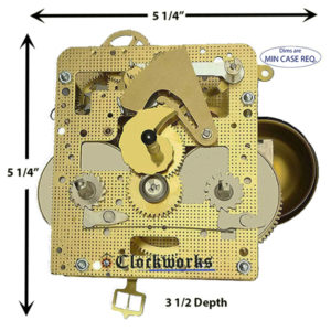 141-070 Hermle Clock Movement