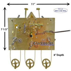 461-850 Hermle Clock Movement