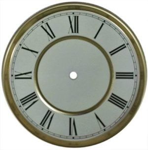Round Clock Dial 6.5 Inch with Gold Trim
