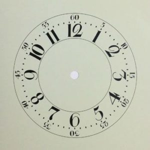 Square Ivory Cottage Style Clock Dial