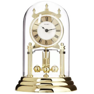 Anniversary Clock Glass Dome