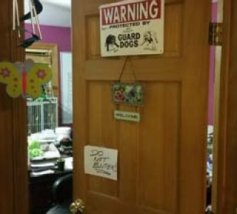 Admin Donna's office, no entry allowed.