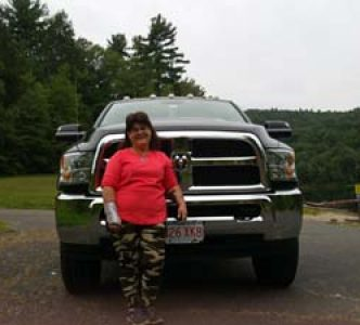 Clockworks Admin Donna Stoudenmire with her 4×4