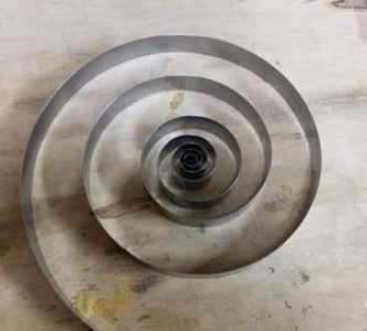 Clock hole end mainspring work