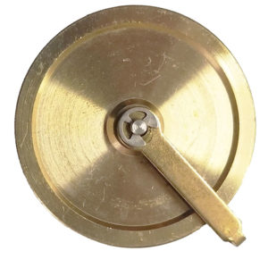 Brass Clock Cable Pulley