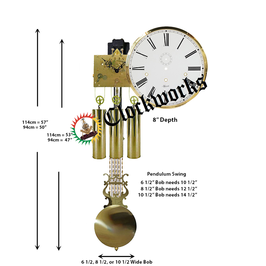 Round Dial Grandfather Clock Kit